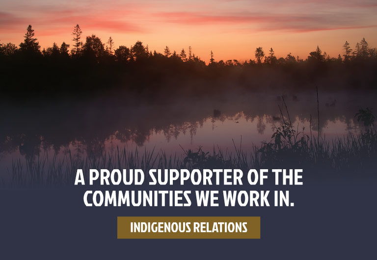 A proud supporter of the communities we work in.