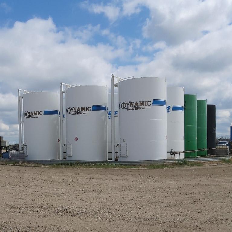 A tank farm from Dynamic Energy Group